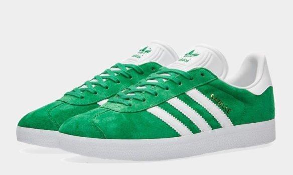 Фото Adidas Gazelle зеленые - 3