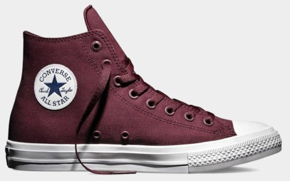 Фото Converse Chuck Taylor All Star II High бордовые - 1