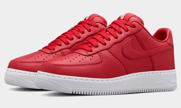 Фото Nike Lab Air Force 1 Low красные - 1