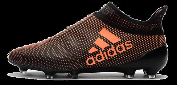 Фото Adidas X 17 Purechaos FG Черные с Оранжевым - 1